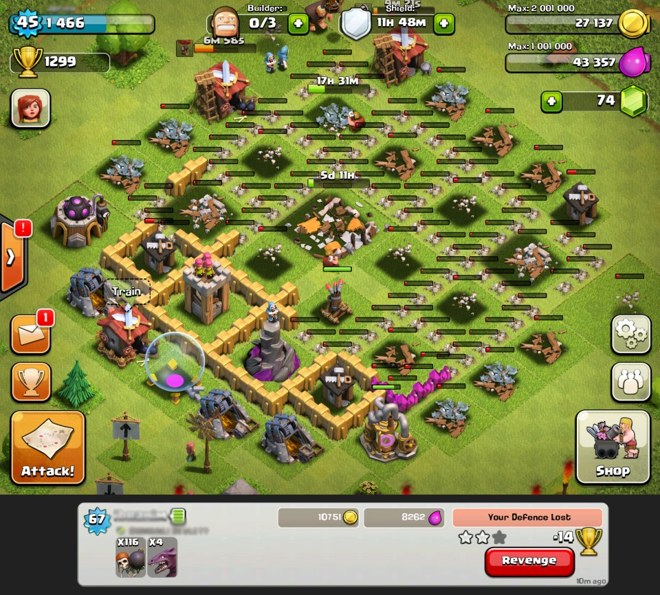 Wall Breaker Clash of Clans Levels