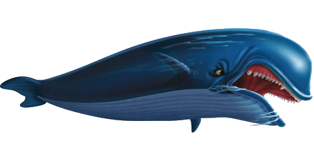 evil as portrayed in the story of moby dick Moby dick is portrayed as evil in the story as ahab tells of how he lost his leg to the white behemoth after ahab loses his leg to the white whale he creates himself .