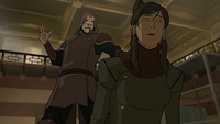 Amon taking Korra's bending