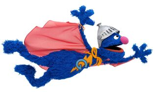 Super Grover flying high
