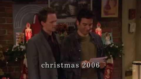 Barney's Christmas Themes about Ted's sister