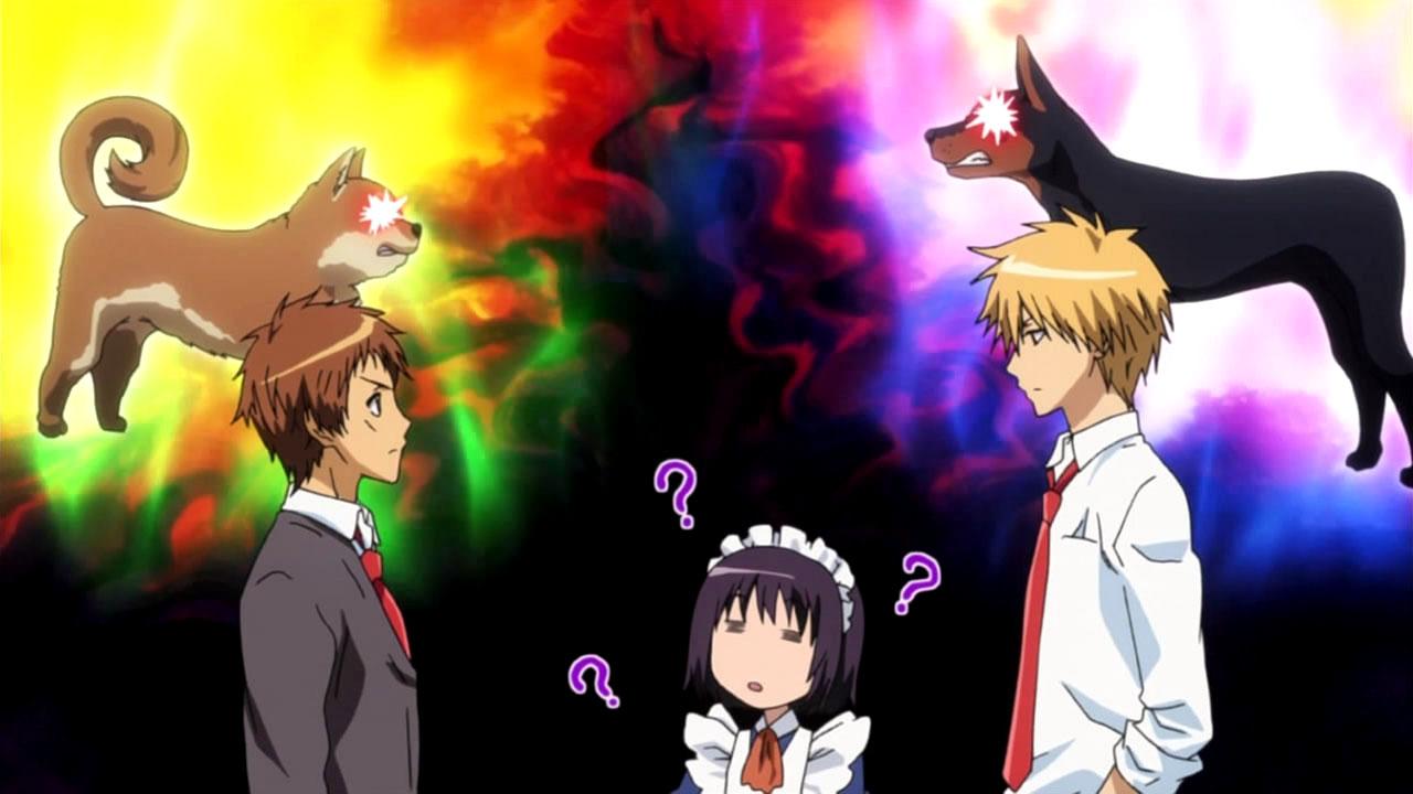 Kaichou wa Maid Sama! Usui_and_Hinata_characters