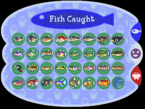 Fish chart animal forest png for Acnl fish guide