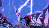 Nightmare Moon cackles as lightning flashes S1E01