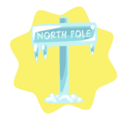 Frozen North Pole Sign Board