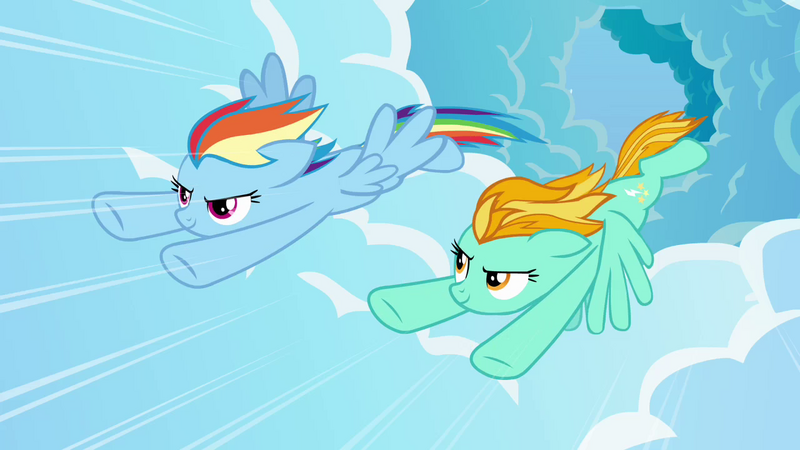 Image - Rainbow and Lightning flying fast 4 S3E07.png - My ...
