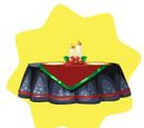 Dark Christmas Table