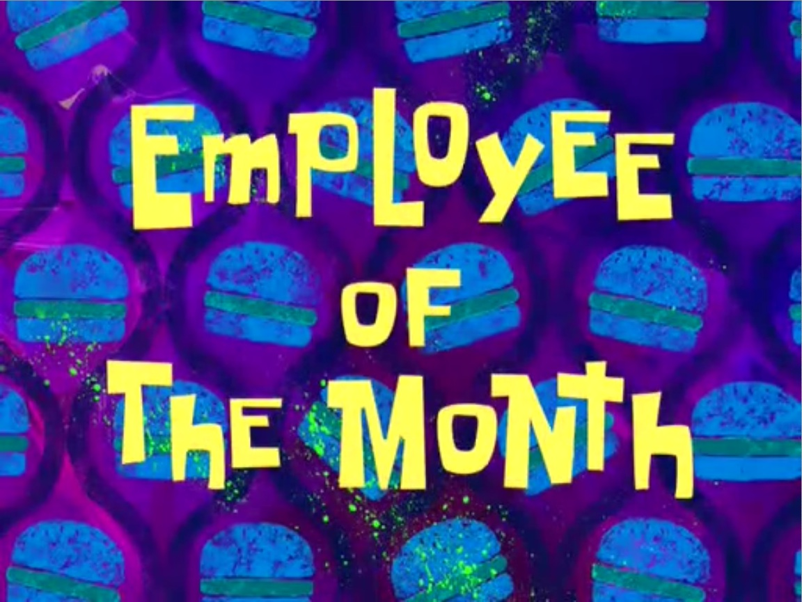 Employee Of The Month Encyclopedia Spongebobia The