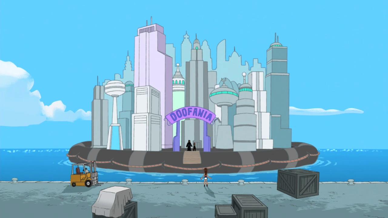 Phineas And Ferb Dr Doofenshmirtz Building Doofania - Phin...