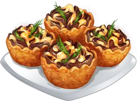 Recipe-Mushroom and California Cheese Tartlets