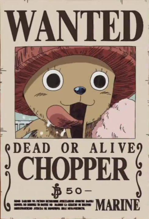 Image tony tony chopper 39 s wanted one piece - One piece wanted poster ...