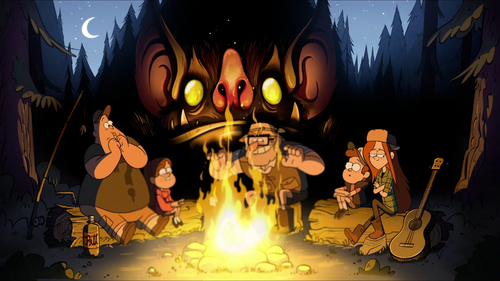 500px fire bat monster gravityfalls