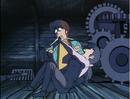 Kyoko screams and hits Godai - Episode3.png