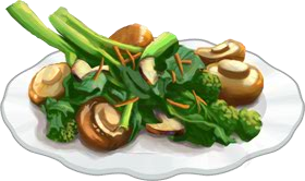 Recipe-Broccoli Rabe with Mushrooms