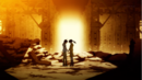 Nise07-koyomi and karen in ruins.png