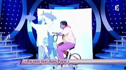 En vélo-taxi dans Paris