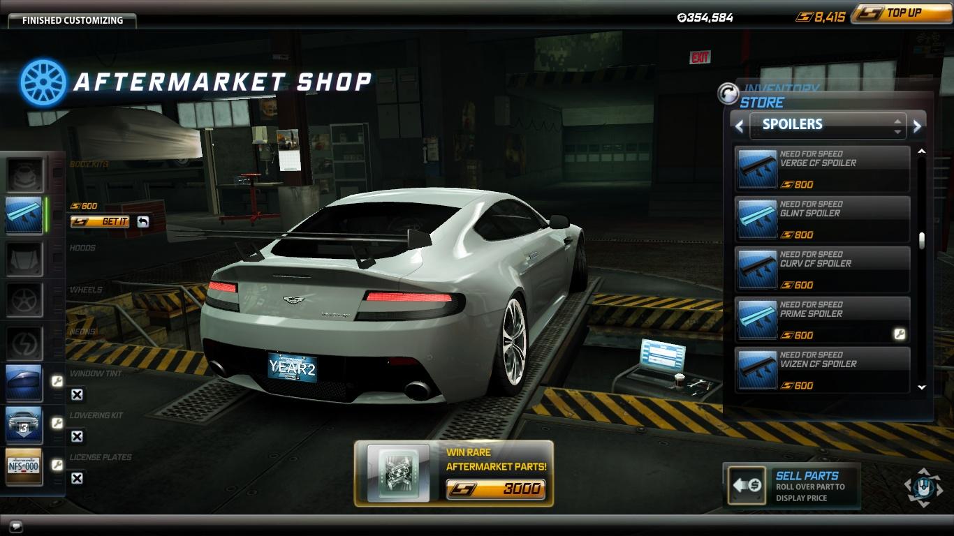 Como descargar y jugar al Need For Speed World Spoiler_Aston_Martin_V12_Vantage_Prime_R