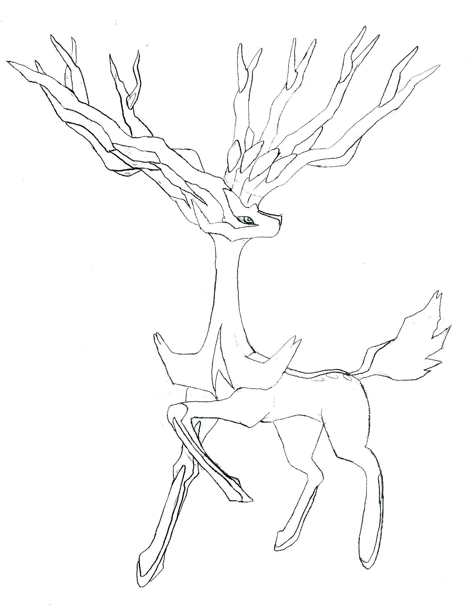 image xerneas drawing png fanonlords wiki