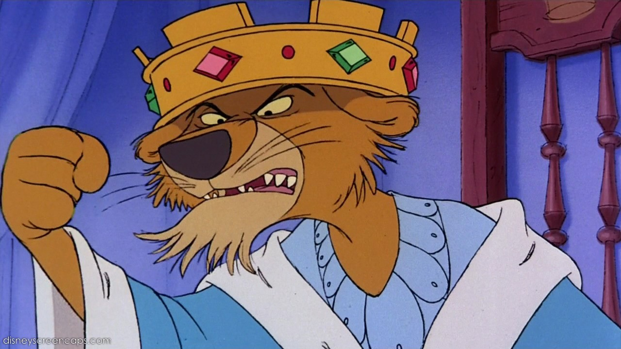 Robin Hood Cartoon King John