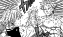 Ban and Meliodas preparing for armwrestling.png