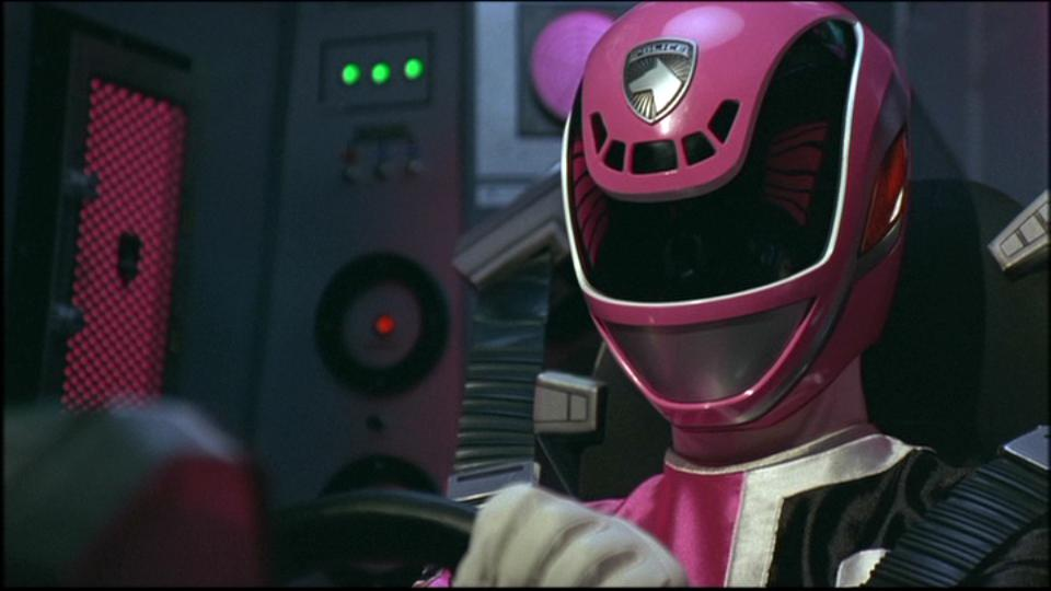Japanese pink power ranger in trouble 6