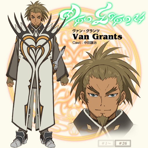 Van s concept artwork in default attire for the Tales of the Abyss    Tales Of The Abyss Van