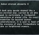 Ashen Stratum Abyssite II