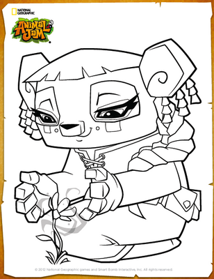 printable coloring pages animal jam - photo#33