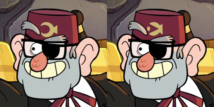 When did Stan's hat change? : gravityfalls | 748 x 374 png 383kB