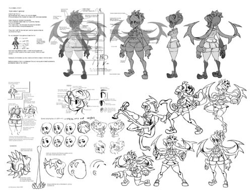Skull girls characters coloring pages ~ Image - Filia additional notes.jpg - Skullgirls Wiki - Wikia