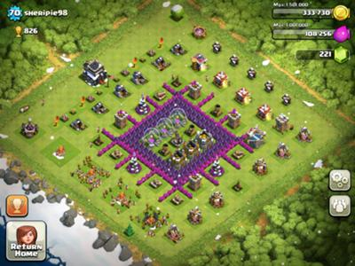 Best coc th9 hybrid base myideasbedroom com
