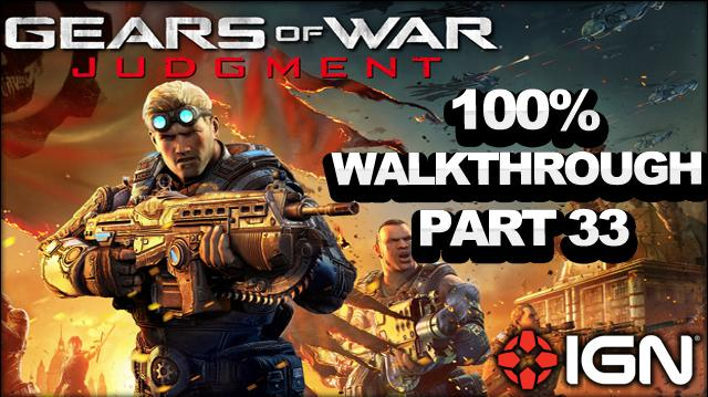 Gears of War Judgment Walkthrough - First Avenue Rooftops - Declassified Mission and Cog Tag (Part 33)
