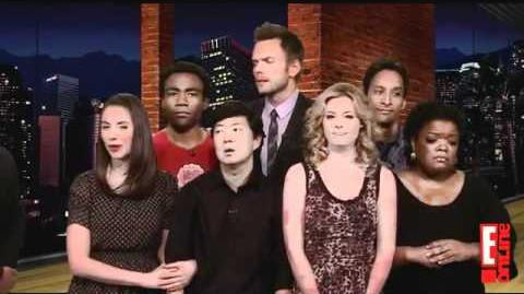 The Community cast on the Soup