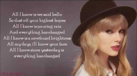 Taylor Swift everything has changed lyrics
