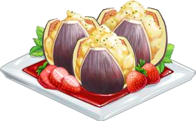 Recipe-Stuffed Figs with Strawberry Sauce