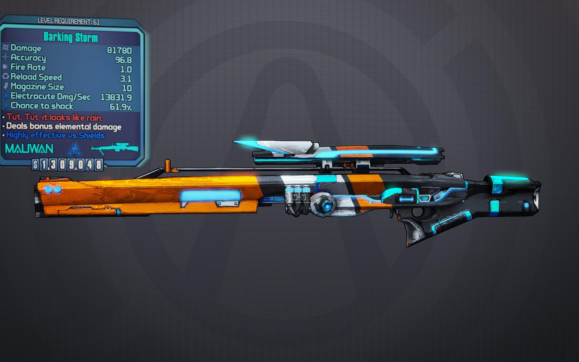 Storm Sniper Rifle Borderlands Wiki Walkthroughs