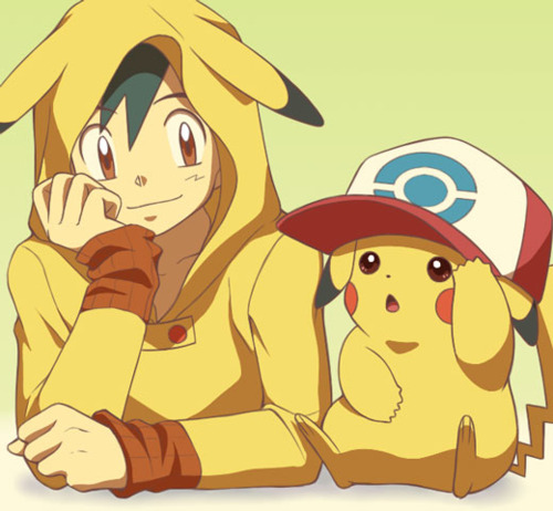 Evil Pikachu And Ash Image - Ash-and-Pikachu-Fanart