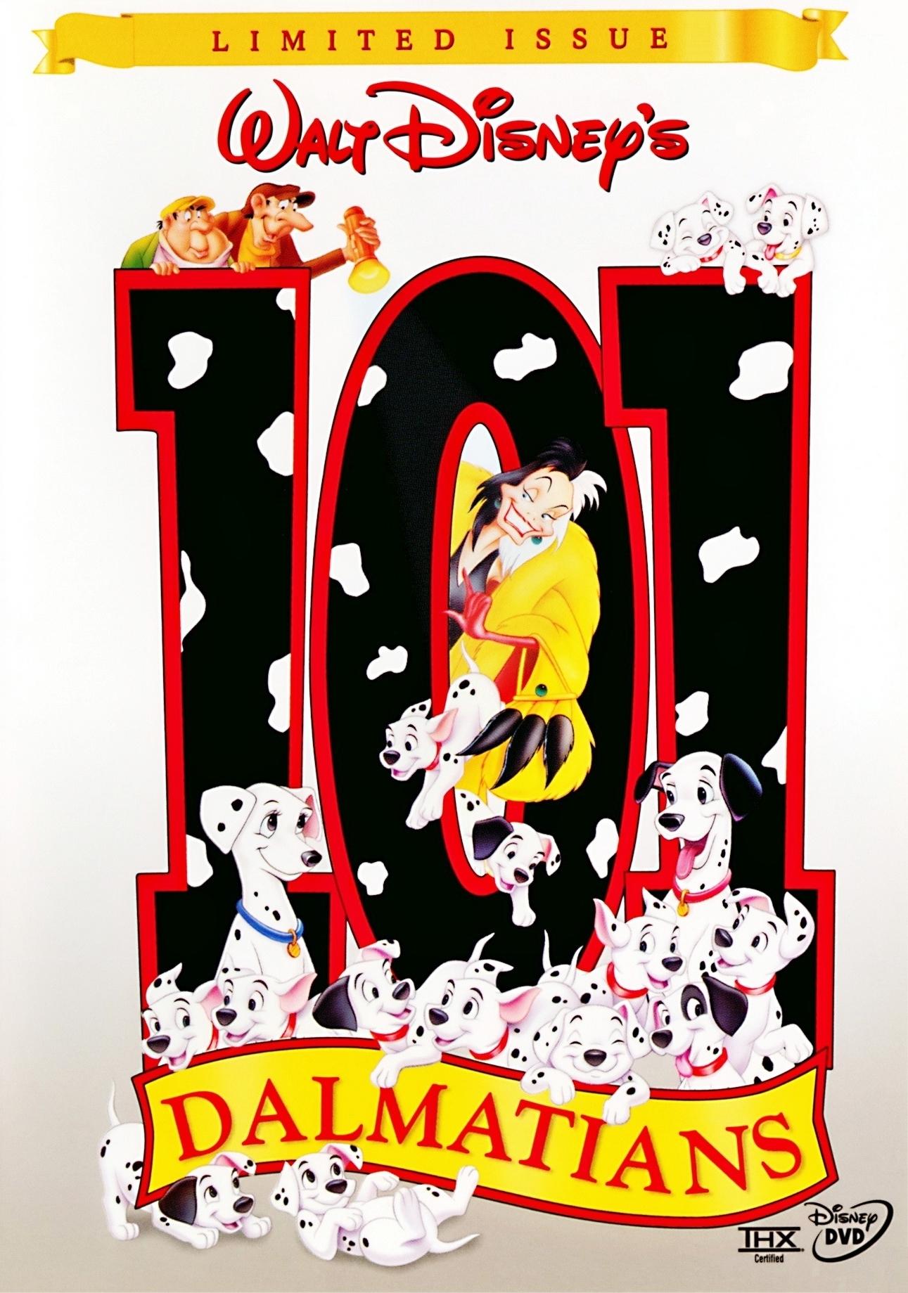 101 Dalmatians Walt Disney Limited Issue Fullscreen Dvd