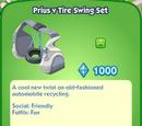 Prius V Tire Swing Set