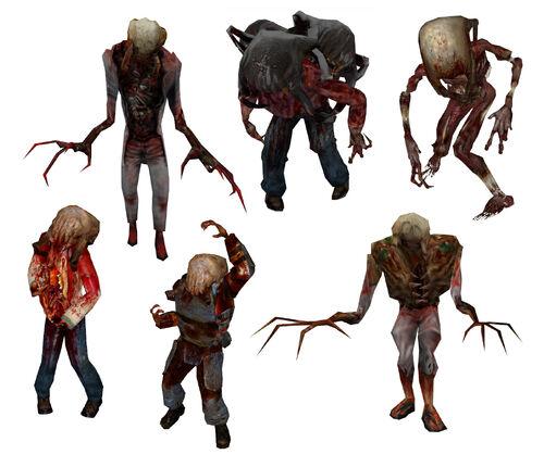 half life zombie Зомби