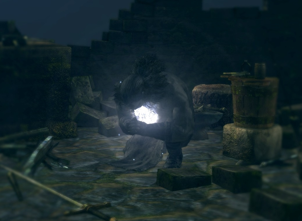 the divine blacksmith is a mentioned character in dark souls