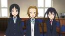 Mio, Ritsu and Azusa nervous.png