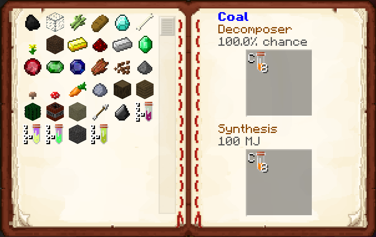 minechem chemical synthesis machine recipes