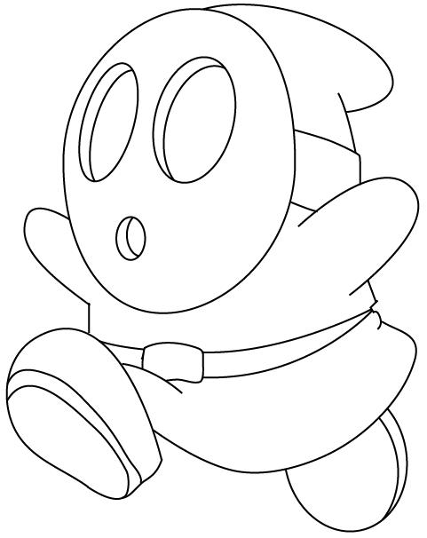 Free coloring pages of mario mario kart bowser for Mario kart wii coloring pages