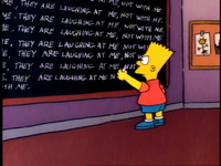 Chalkboard gag (Krusty Gets Busted)