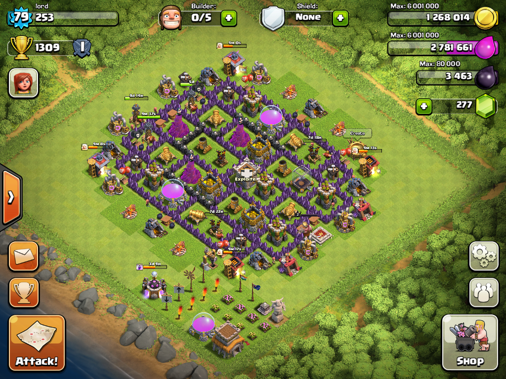 Town Hall Level 8 Defense , Clash Of Clans Town Hall Level 8 Farming