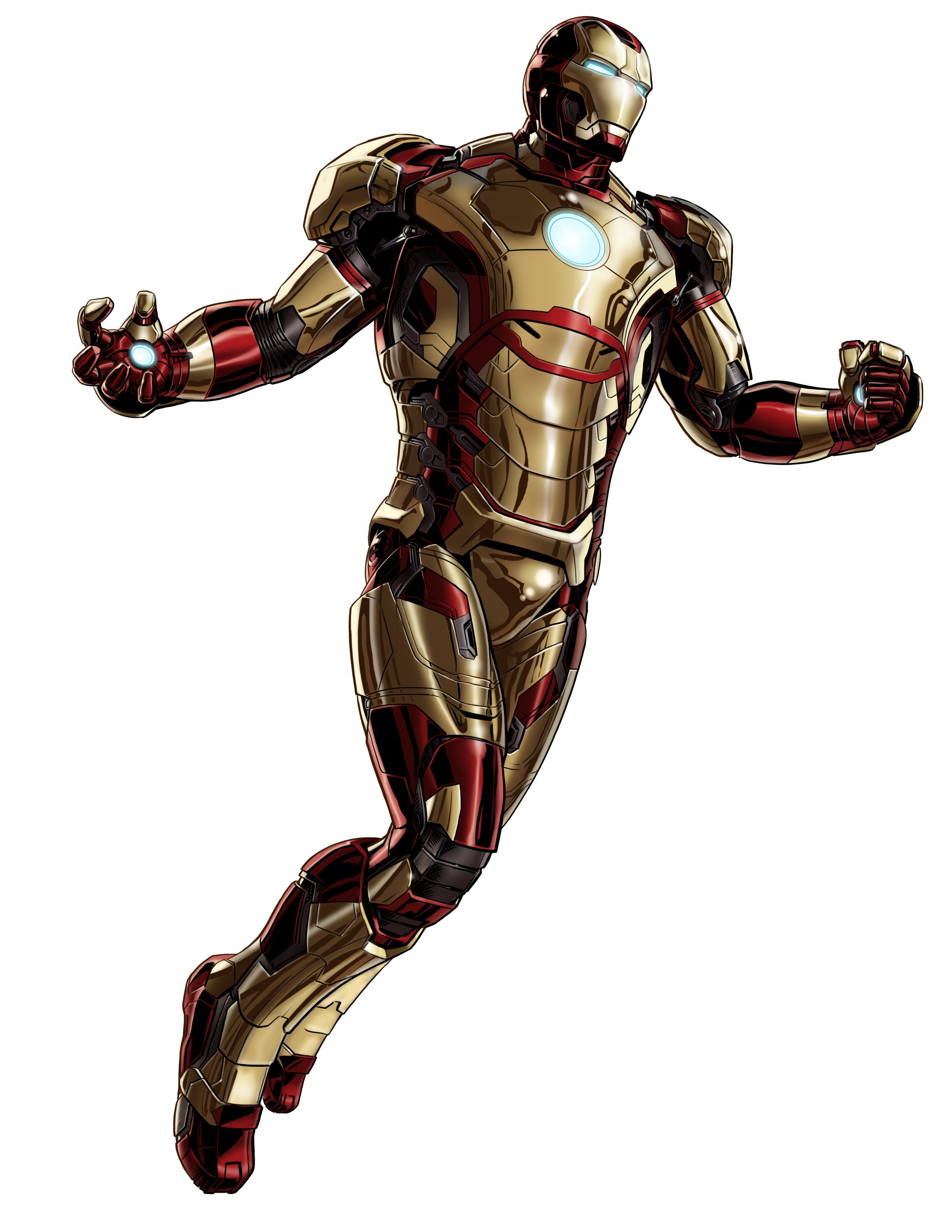 Image - Iron Man Mk 42 Armor Portrait Art.png - Marvel ...
