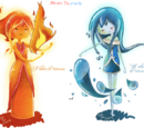 Water Princess and Flame Princess