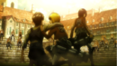 Eren, Mikasa and Armin face the Garrison.png