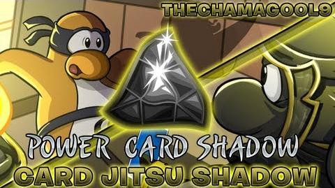 Club Penguin Card Jitsu Shadow Sneak Peek Power Card Shadow HD